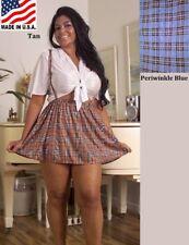 LINGERIE PLAID SKIRT CAMI TOP SCHOOL GIRL COSTUME S M L PLUS 1X 2X 3X 4X