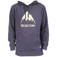 BURTON Mens - Classic Mountain Pullover Hoodie - Mood Indigo Heather