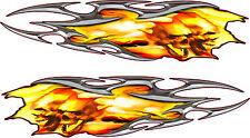 2 stickers auto Flaming 38x9cm ref 23