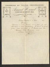 """MONTIGNY-MAIGNELAY (60) CHARBON BRIQUETTES BOULETS """"Armand HAMEL"""" en 1924"""