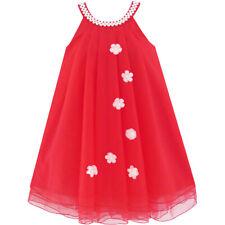 Sunny Fashion Robe Fille Fleur Licou Habiller Perle Partie Mariage Anniversaire