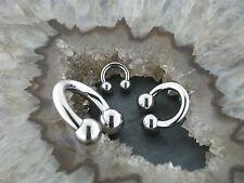 Titan piercing circular barbell grosores de 8 hasta 6,0mm pecho oreja Tragus labio tabique