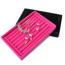 Velvet Ring Tray Jewelry Display Earring Organizer Holder Insert Showcase Box
