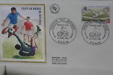 ENVELOPPE PREMIER JOUR SOIE 1982 COUPE MONDE FOOTBALL
