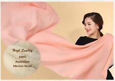 DX High Quality Australian Merino Wool Scarf Wrap Long Shawl Solid Color PR14008