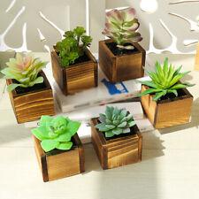 Mini Artificial Potted Succulent Plant Fake Small Bonsai Pot Home Garden HOT-