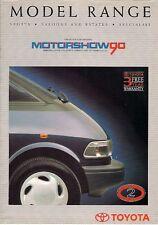 Toyota Motorshow 1990 UK Brochure Starlet Corolla MR2 Carina Camry Celica Supra
