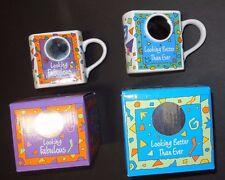 New/box Dakin half a cup Coffee mug w/ Mirror Side Stanley Papel Geometric print