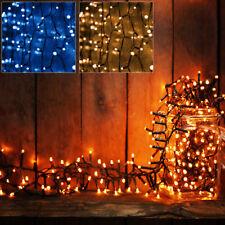 Guirlande lumineuses 100/160 LED déco Noël Timer Contrôle bleu/blanc 8 fonctions