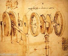 Leonardo Da Vinci Machines Giclee Canvas Print