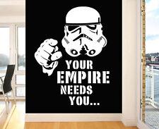 Stormtrooper su imperio necesita Pared Pegatinas De Vinilo Star Wars murales Calcomanías