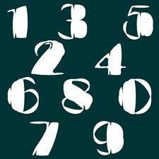 6 cm Zahlen Aufkleber Klebezahlen Ziffern Sticker 1 bis 200 Stück weiß SA-64