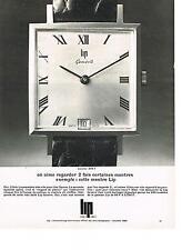 PUBLICITE   1967   LIP   montre LOCARNO
