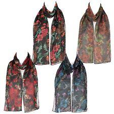17faacc515e6 Femmes écharpe en mousseline foulard imprimé florale châle enveloppant