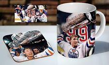 Wayne Gretzky Stanley Cup Collage Tea / Coffee Mug Coaster Gift Set