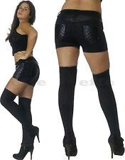shorts pantaloncini donna pants + calze parigine pantalone tasche zip nuovo