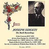 FREE US SHIP. on ANY 2 CDs! NEW CD Bach, Szigeti, Stiedry, Goehr: Joseph Szigeti