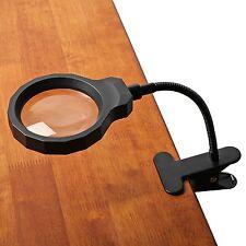 ViSee LM-30 LED-Lighted Rechargeable Desktop Magnifier