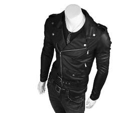 Giacca Giubbotto in Pelle Uomo Men Leather Jacket Veste Blouson Homme Cuir N17g