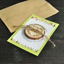 Custom Floral Save the Date Magnet Wood Wedding Favor Invitation Fridge magnet
