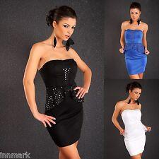 395 Sexy Evening Cocktail Mesh Peplum Bodycon Black Blue White Dress Size S/M