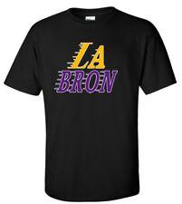 "BLACK Lebron James Los Angeles Lakers ""LABRON"" T-Shirt"