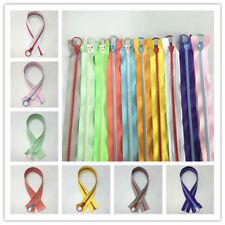 1-20PCS 50cm(20inch) 5# Separator Resin Zipper Metal Ring Puller Colorful Sewing
