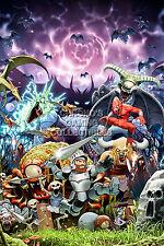 RGC Huge Poster - Ghosts and Goblins Art Original Nintendo NES - NES026