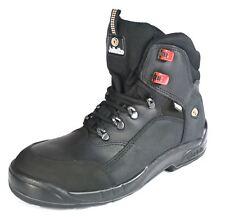 Jallatte Jalamset S3 Triftane Mens Black Leather Lace Up Toe Cap and Midsole