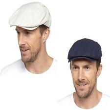 Sombrero plano de verano de algodón forrado de hombre con gorra plana
