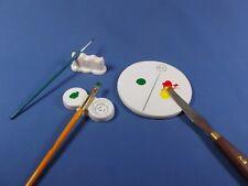 L'artiste céramiste Mini Peinture Palettes/Brosse Repose/Mélange carreaux/BLANC CHINE