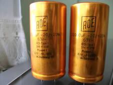 4x NOS ROE GOLD 63v 22000uf LOW ESR/ESL HI-END AUDIO CAPACITORS !