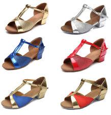 Brand New Children girls women salsa tango ballroom heeled  latin dance shoes