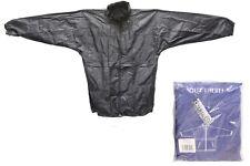 Girls Boys Children Kids Hooded Raincoat Waterproof Jacket Black Blue All Sizes