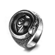 Men's Women Ring Illuminati The satanic eye Evil Devil Pyramid Symbol talisman