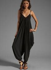 Chándal Pantalones Harén Mujer V-cuello 10 colores - Jampsuit Mono 660003 P