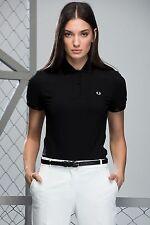 Fred Perry Women Vinyl Collar Polo Shirt Sizes: 8UK / UK10 / UK14