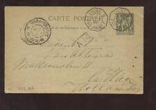 FRENCH COLS.1898 STATIONERY VF LIGNE MARITIME HOLLAND