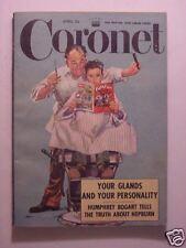 CORONET April 1952 KATHERINE HEPBURN HUMPHREY BOGART MORMONS BOBBY JONES CHINA +