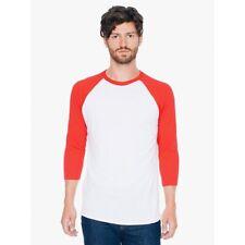 American Apparel 50/50 Poly Cotton 3/4 Raglan Sleeve Crew Neck T-Shirt BB453