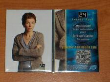 24 H CHRONO TWENTY FOUR ULTRA RARE COSTUME CARD TERI BAUER M4