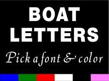 CUSTOM BOAT LETTERS Vinyl Sticker decal - BOAT lettering