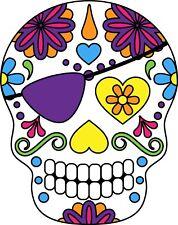 Mexican sugar skull auto adhésif en vinyle autocollant pour mur, voiture, van