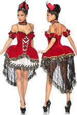Sexy Samt Märchenkostüm Damen Fasching Karneval Königin Role Cosplay Gr XS S M L