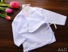 Baby Wickelshirt Hemdchen Erstlingshemdchen Shirt Wickelhemd  Weiß 50 56 62 68