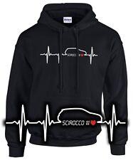 I Love My SCIROCCO 3 III TUNING R Felpa battito cardiaco pulsazioni satira incontro VW