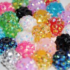 10 x 12mm Shamballa Bracelet Making Rhinestone Resin Pave Disco Loose Bead