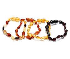 Genuine Baltic Amber Beans Anklet Bracelet for Baby Child 5.5 in Choose Color