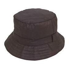 Mens Ladies Unisex Waxed Cotton Wax Bush Bucket Hat 3 Colours 4 Sizes