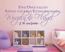 Wandtattoo Spruch - Kinder Eltern Wurzeln flügel Sticker Wandaufkleber Aufkleber